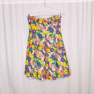 Cooperative UO Floral Strapless Dress M